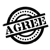 Agree rubber stamp Stock Image