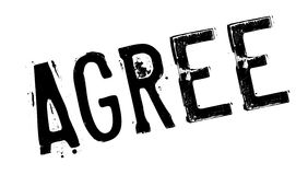 Agree rubber stamp Stock Images