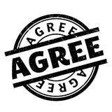 Agree rubber stamp Stock Photos