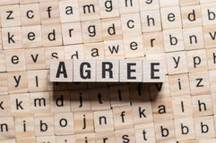 Agree word concept stock image