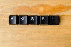 Agree word. With keyboard buttons Stock Images