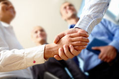 Agreement. Image of business handshake after making an agreement Stock Image