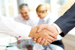Agreement. Close-up of business people making agreement in the office Royalty Free Stock Images