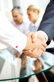 Agreement. Close-up of business people making agreement in the office stock photos