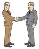 Agreement. Two businessmans; handshake; business concept; isolated  vector illustration Royalty Free Stock Image