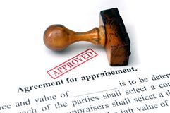 Agreement for appraisement Stock Photo