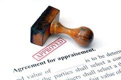 Agreement for appraisement Stock Photos