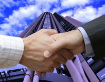 Agreement in the big city Royalty Free Stock Images