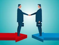 Agreement business. Concept business illustration. Vector flat Stock Photography