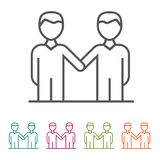 Agreement Business People icons in thin line Style and flat Design. Eps10 Vector Stock Photography
