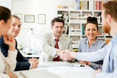 Agreement between company representatives Stock Image