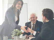 Agreement during conference Royalty Free Stock Photography