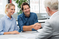Agreement with consultant Stock Image