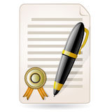 Agreement. Contract concept Royalty Free Stock Photos