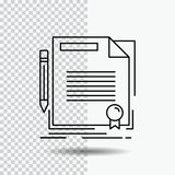 Agreement, contract, deal, document, paper Line Icon on Transparent Background. Black Icon Vector Illustration. Vector EPS10 Abstract Template background vector illustration