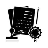 Agreement contract  icon, vector illustration, sign on isolated background Royalty Free Stock Photos