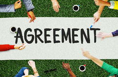 Agreement Cooperation Partnership Deal Contract Concept Stock Image