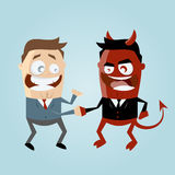 Agreement with the devil. Illustration of agreement with the devil royalty free illustration