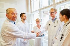 Agreement between doctor and physician. Assistant royalty free stock image