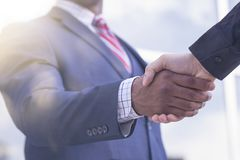 Agreement. Give high five Royalty Free Stock Photo