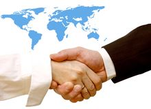 Agreement handshake Stock Images
