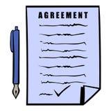 Agreement icon, icon cartoon Royalty Free Stock Image