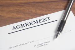 Agreement Letter Stock Image