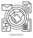 Agreement line infographic. Royalty Free Stock Photos