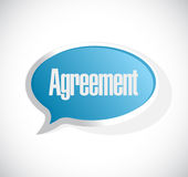 Agreement message bubble sign Royalty Free Stock Image
