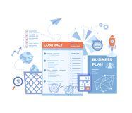 Agreement, Partnership, Success deal, Contract signing, Transaction steps. Business document with signatures, stamps, business royalty free stock image
