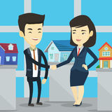 Agreement between real estate agent and buyer. Stock Image