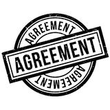 Agreement rubber stamp Stock Image