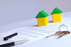 Agreement signed on a table Royalty Free Stock Images