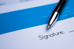 Agreement - signing a contract Royalty Free Stock Images
