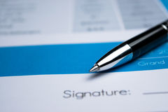 Agreement - signing a contract Stock Image