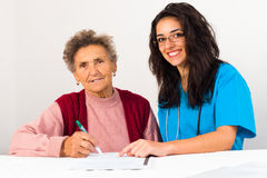 Agreement to Nursing Home Stock Photos