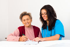 Agreement to Nursing Home Royalty Free Stock Photography