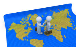Agreement on world map Royalty Free Stock Image