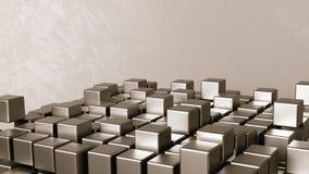 Agregação dos cubos em Grey Background ilustração do vetor