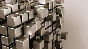 Agregação dos cubos em Grey Background ilustração royalty free