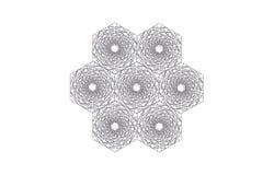 Agregación de los hexágonos hechos de hexágonos más pequeños fotos de archivo