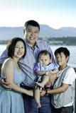Agregado familiar com quatro membros Fotografia de Stock Royalty Free
