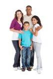 Agregado familiar com quatro membros Fotos de Stock Royalty Free