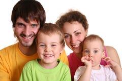 Agregado familiar com quatro membros 2 da cor fotografia de stock