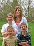 Agregado familiar com quatro membros Foto de Stock Royalty Free