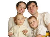 Agregado familiar com quatro membros imagem de stock