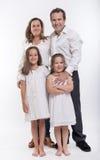 Agregado familiar com quatro membros Imagens de Stock