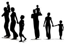 Agregado familiar com quatro membros ilustração royalty free