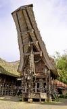 Agregado familiar rural de Toraja imagens de stock