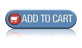 Agregue al botón del carro Fotografía de archivo libre de regalías